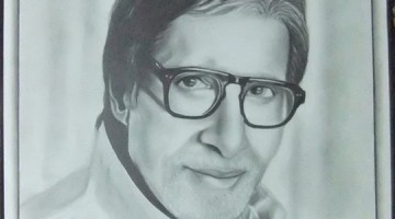 Amitabh_Bachchan_Potraite_Ashok_Nagpure_Nashik_World_Record