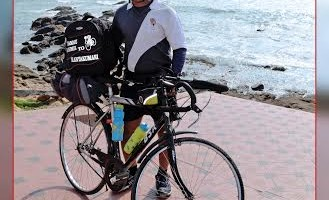santosh_holi_Cyclist_world_record