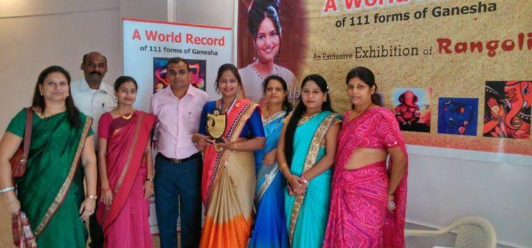 Supriya_Dudhal_Fulare_Nagpur_rangoli_World_Record