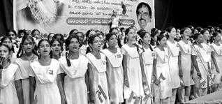 MOST PEOPLE SINGING INDIAN NATIONAL ANTHEM TOGETHER