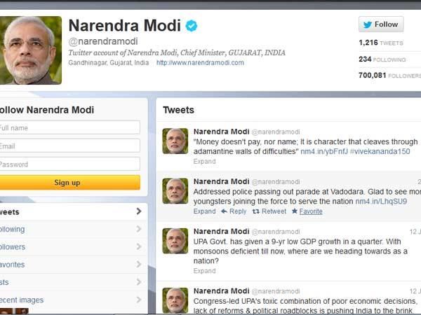 Narendra Modi – Most Twitter Follower set World Record