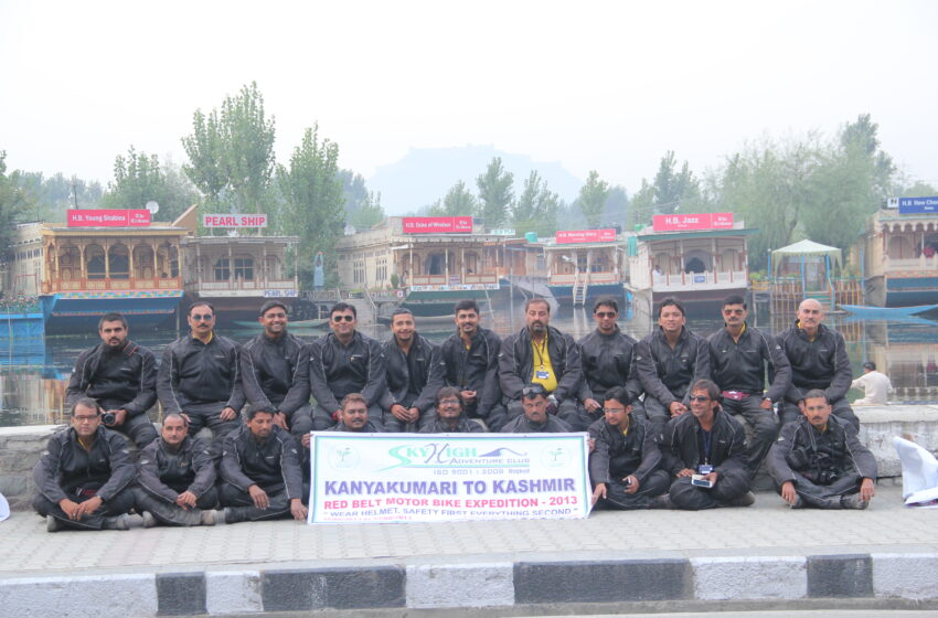 LONGEST RED BELT MOTOR BIKE EXPEDITION BY GROUP IN INDIA