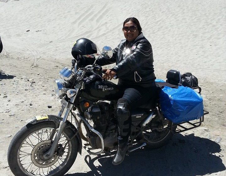 MOTORCYCLE EXPEDITION ON HIGHEST MOTORABLE ROAD BY WOMEN RIDER