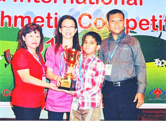 YOUNGEST TO WON AWARD FOR MENTAL MATHS