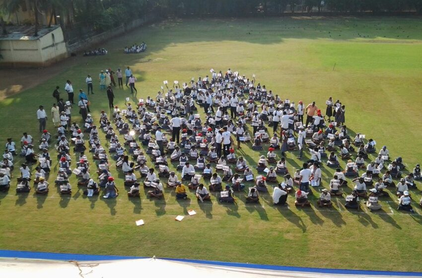 FASTEST TIME TO ARRANGE PASCAL'S TRIANGLE (HUMAN FORMATION)