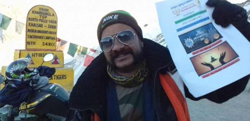 FIRST RIDER IN INDIA TO COVER FOUR CORNERS OF INDIA BY ROAD