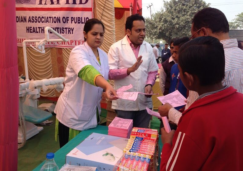 DISTRIBUTION OF MAXIMUM LEAFLETS ON ORAL HEALTH EDUCATION