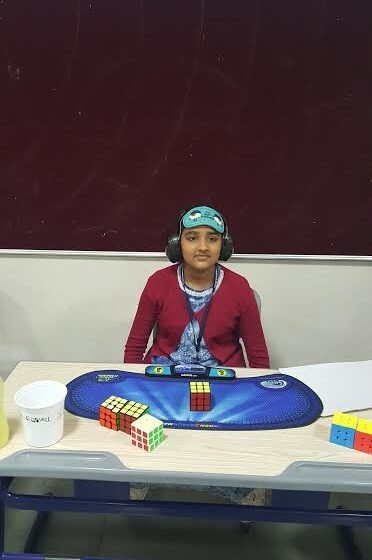 YOUNGEST TO SOLVING 4x4x4 RUBIK CUBE BLINDFOLDED