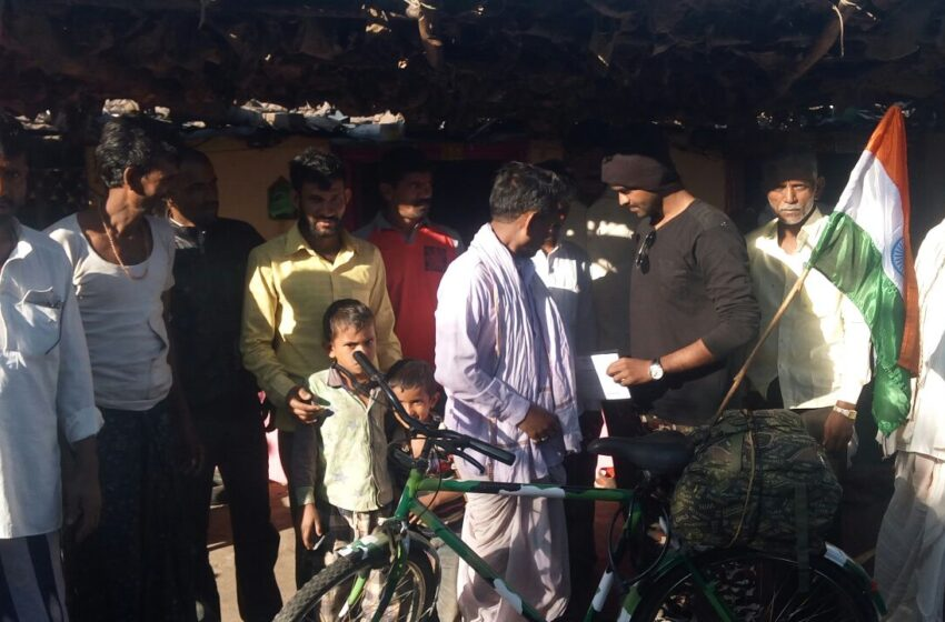 MOST NUMBER OF VILLAGES COVERED BY BICYCLE FOR AWARENESS