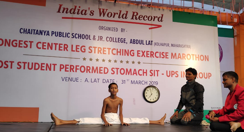 LONGEST CENTER LEG STRETCHING EXERCISE MARATHON