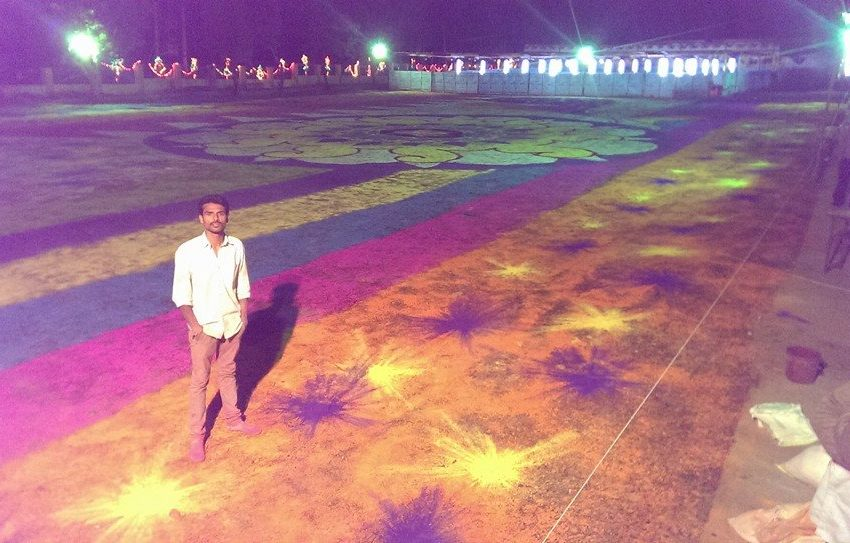 LARGEST RANGOLI BY AN INDIVIDUAL ARTIST