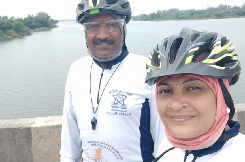 FIRST CYCLIST COUPLE FINISHED GOLDEN QUADRILATERAL OF INDIA