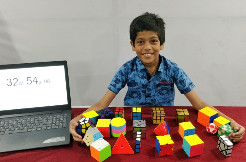 YOUNGEST TO SOLVE 25 TYPES OF 3D PUZZLES IN THE LEAST TIME