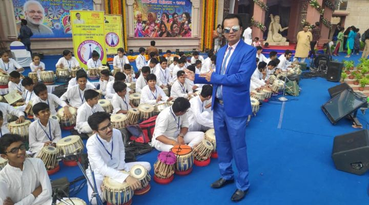 MOST STUDENT PERFORMED DIFFERENT TAAL ON TABLA (HAND DRUM)