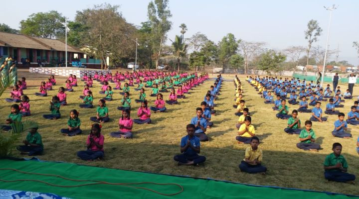 MAXIMUM STUDENTS PERFORMED SURYA NAMASKAR FOR 1 HOUR (MULTIPLE VENUES)