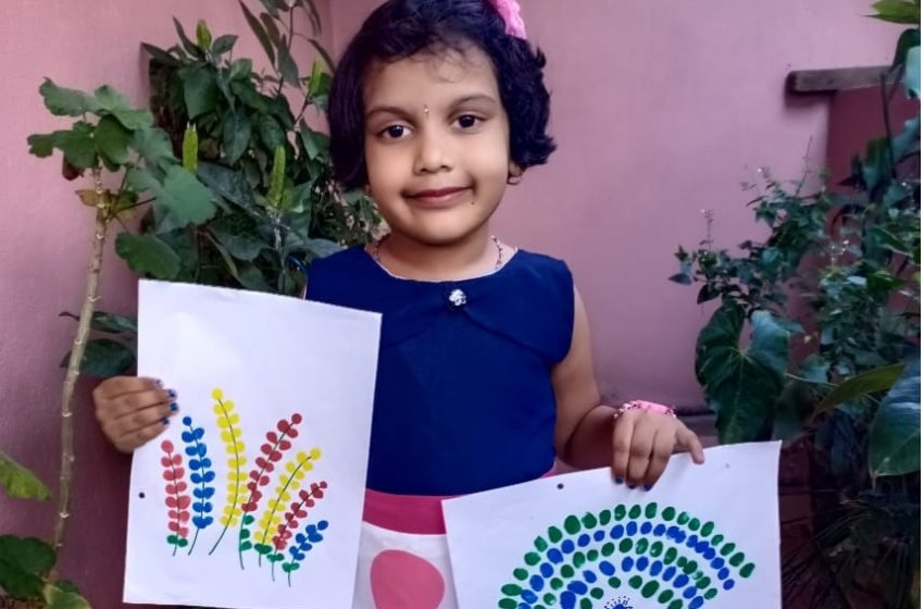 YOUNGEST GIRL TO CREATE THUMB IMPRESSION PAINTINGS
