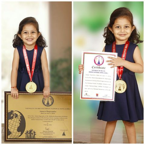 YOUNGEST TO RECITE INDIAN NATIONAL SONG (GIRL)
