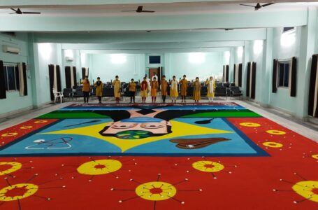 LARGEST RANGOLI TO SALUTE CORONA WARRIORS