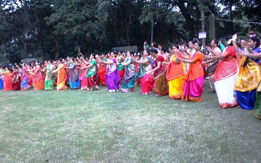MOST PEOPLE PARTICIPATE IN SHERIGARBA (GUJARATI DANCE) TOGETHER