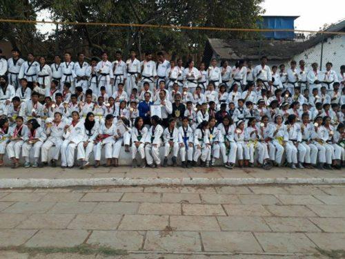 MAXIMUM STUDENTS PERFORMED TAEKWONDO / KARATE PUNCHES