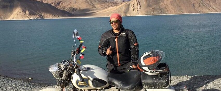 YOUNGEST FEMALE RIDER TO RIDE TO REACH KHARDUNGLA PASS