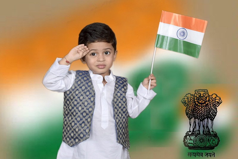 YOUNGEST TO RECITE INDIAN NATIONAL ANTHEM (BOY)