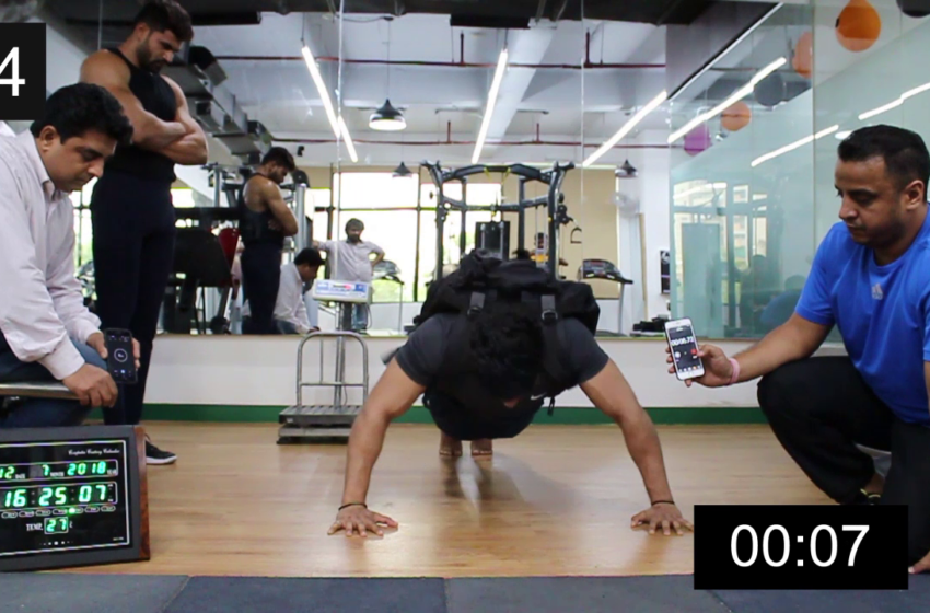 MOST PUSH-UPS IN ONE MINUTE CARRYING A 60 LB PACK (MALE)