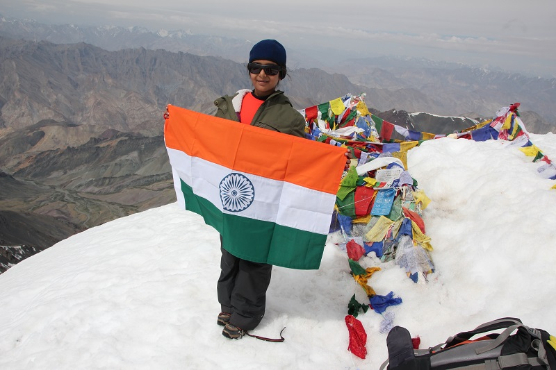 YOUNGEST PERSON IN THE WORLD TO SUMMIT MT. STOK KANGRI (6153 M)