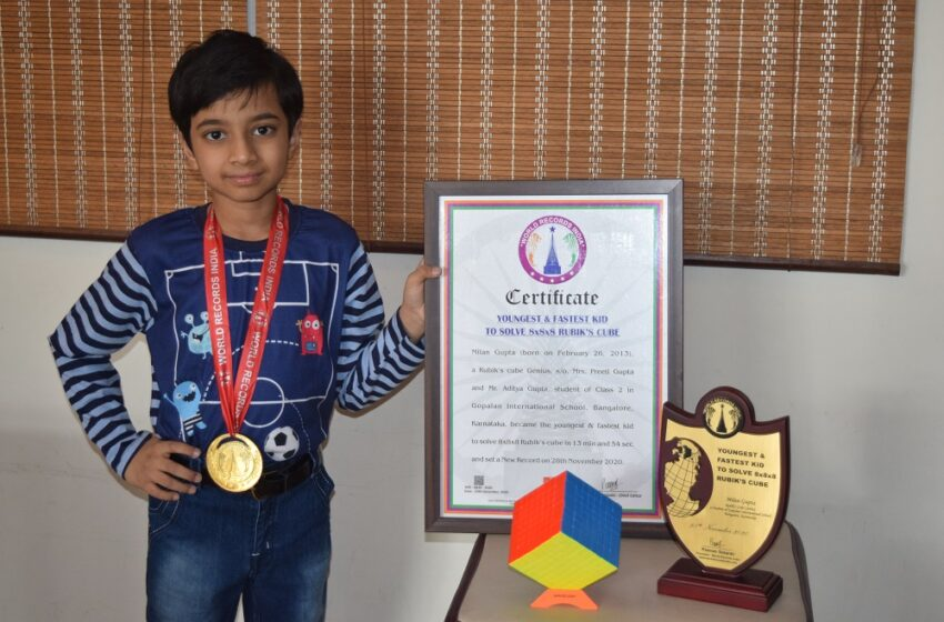 YOUNGEST & FASTEST KID TO SOLVE 8x8x8 RUBIK'S CUBE