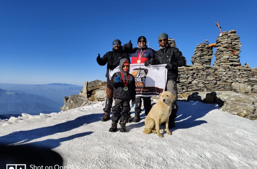 YOUNGEST BOY TO SUMMIT KEDARKANTHA PEAK (12500 FEET)