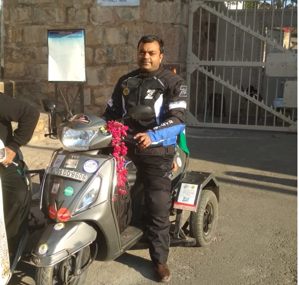 LONGEST SOLO SCOOTY RIDE BY A SPECIALLY ABLE RIDER