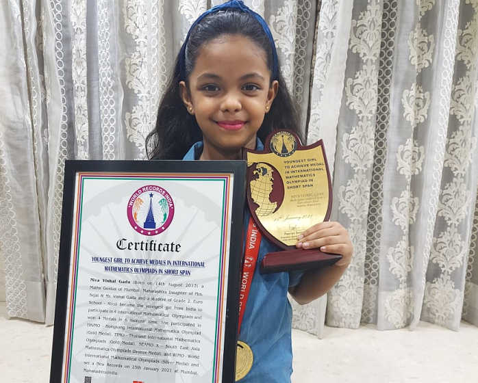 YOUNGEST GIRL TO ACHIEVE MEDALS IN INTERNATIONAL MATHEMATICS OLYMPIADS IN SHORT SPAN