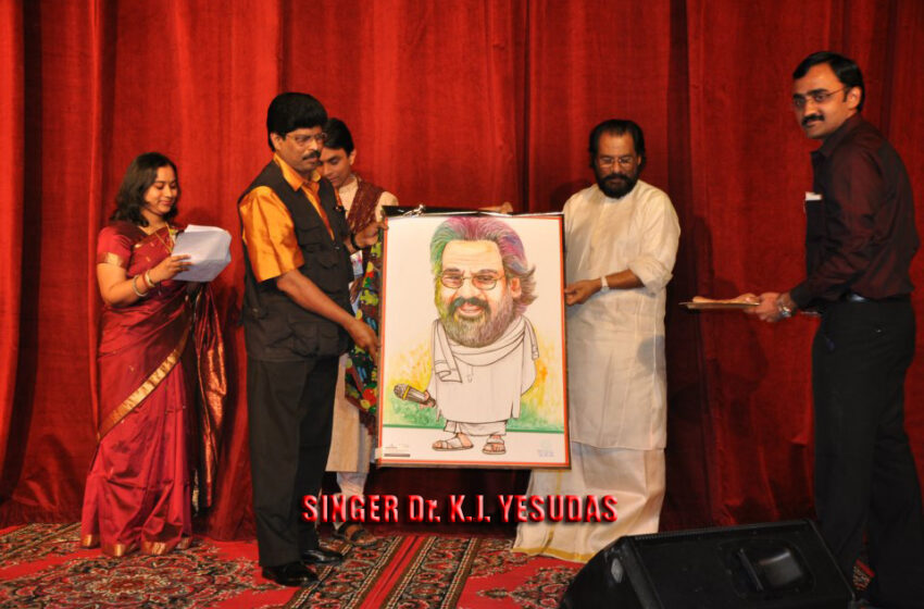 MOST NUMBER OF CARICATURES CREATED ON PROMINENT PERSONALITIES.
