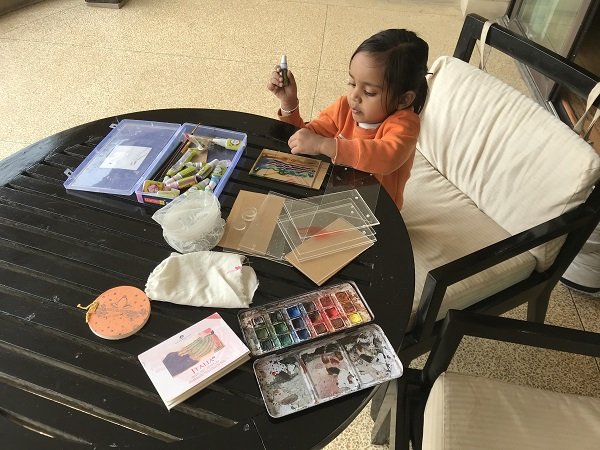 YOUNGEST TO HOLD A SOLO INTERNATIONAL ART EXHIBITION FOR GLASS PAINTINGS