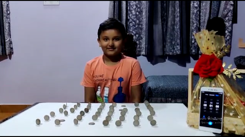MOST COINS BALANCED UPRIGHT IN ONE MIN