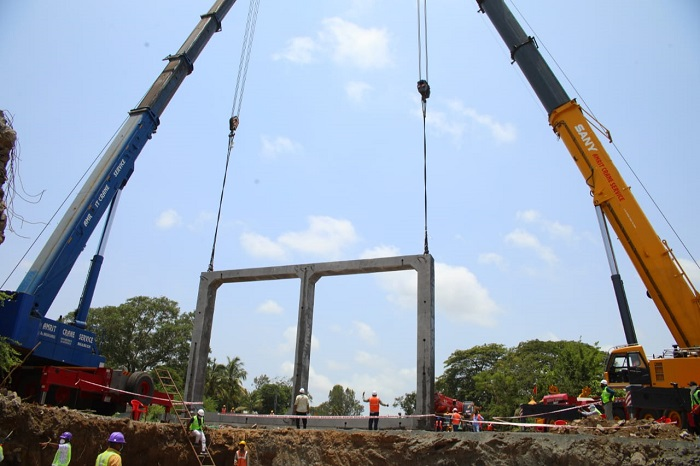 INDIA'S LARGEST PRECAST PSC SEGMENTAL TWIN CELL BOX MANUFACTURED AND DEPLOYED.