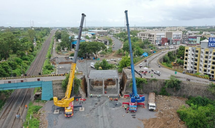 FASTEST INSTALLATION OF LARGEST PSC SEGMENTAL TWIN CELL BOXES ON ONE ADJACENT SIDE OF RAILWAY PORTION ABUTMENT