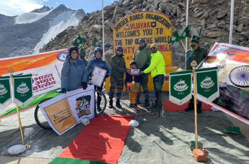 YOUNGEST BOY to SUMMIT  KHARDUNGLA HIGHEST MOTORABLE PASS WITH BICYCLE