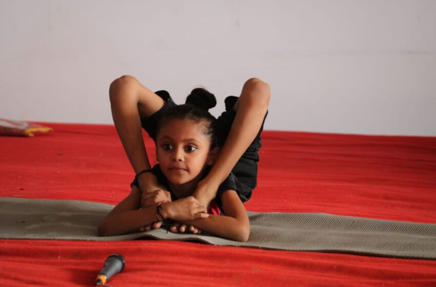 YOUNGEST GIRL TO PERFORM MAXIMUM DIFFERENT TYPES OF YOGA POSES.